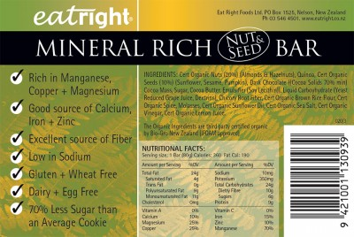 Eat Right brand food label